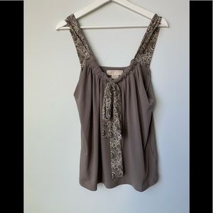 Michael Kors Brown Knit Blouse NWT